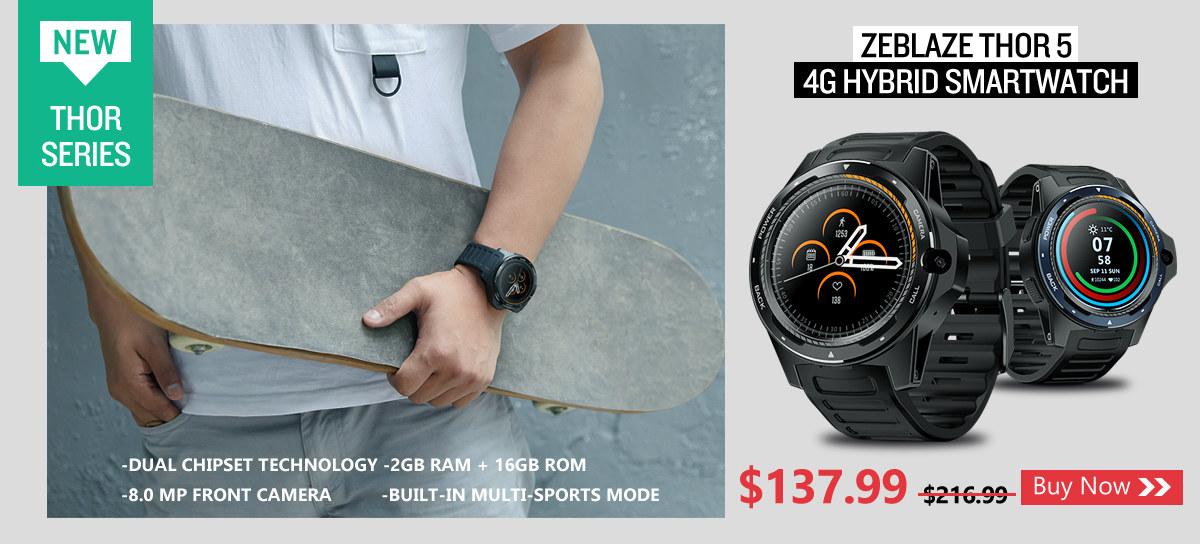zeblaze thor 5 4G hybrid smartwatch