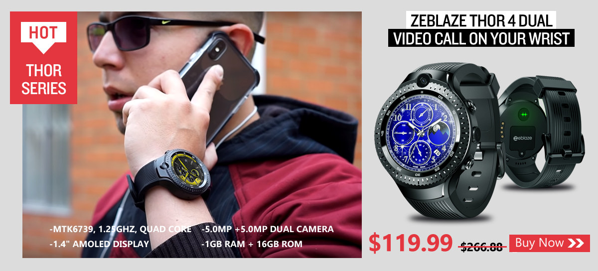 zeblaze thor 4 DUAL Video Call On Your Wrist