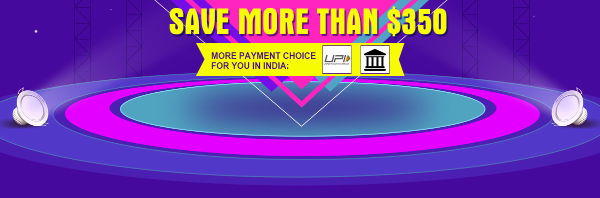 Weekly Best Sellers Save More Than $350,More Payment Choice For You In India: UPI & Netbanking