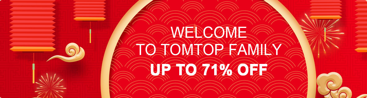WELCOME TO TOMTOP FAMILY Up To 71% Off