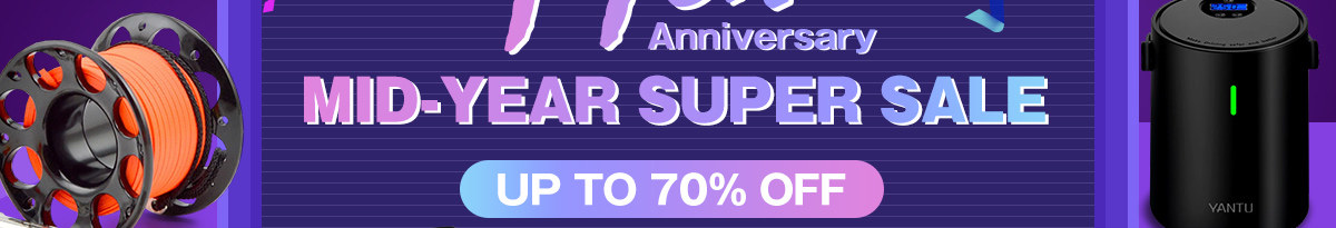17th Anniversary Mid-year Super Sale UP TO 70% OFF