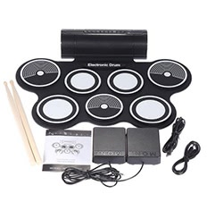 Portable Foldable Silicone Electronic Drum Pad Kit