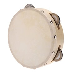 6in Hand Held Tambourine Drum Bell Metal Jingles Percussion Musical Toy