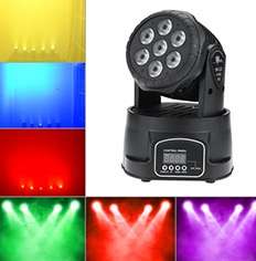 70W 7 LEDs RGBW 4 in 1 LED Stage Effect Moving Head Light