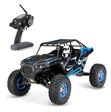 Wltoys 10428-B 1/10 2.4G 2CH 4WD 30km/h Electric Brushed Off-road Rock Crawler w/ LED Lights RTR RC Climbing Car