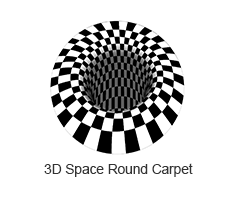 3D Space Round Carpet