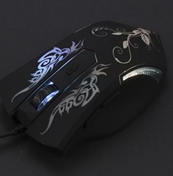 Einstellbare 6 Tasten Optische USB Wired Gaming Mouse