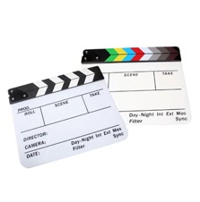 Acrylic Clapboard Dry Erase Director Film Movie Clapper Board