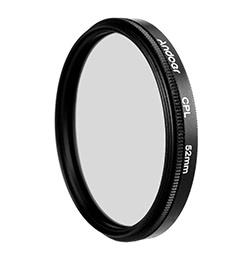 Andoer 52mm Rundfiltersatz Zirkularpolfilter Filter