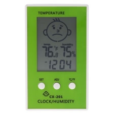 LCD Digital Thermometer Hygrometer Clock Temperature Humidity Measurement
