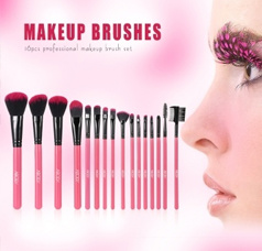 16Pcs Professional Makeup Brushes Kit+ Pouch Bag Case