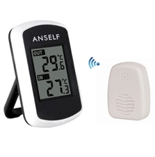 Anself LCD Digital Thermometer Temperature Measurement
