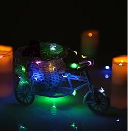 50 LEDs Kupferdraht Lichter im Freien