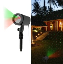 Dynamic Red Green Sky Star Effect Lawn Laser Spotlight