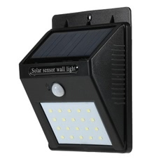 20LEDs Solar-powered Rechargeable Wall Light