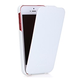 Echtes Leder Slim Case Cover für iPhone 5