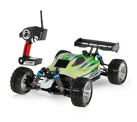 WLtoys A959-B 2.4G 1/18 Scale 4WD 70KM/h High Speed Off-road Buggy RC Car
