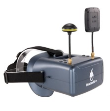 Makerfire VR008 Pro 5.8G 40CH Dual Receiver Double Antenna FPV Goggles