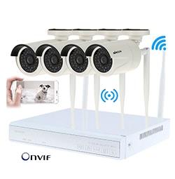 KKmoon 4CH HD Videorekorder + 4pcs IP-Kamera
