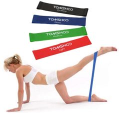 Set of 4 Exercise Resistance Loop Bands