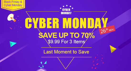 Cyber Monday Super Deals $9.99 For 3 Ite