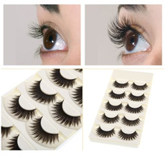 5 Pairs False Eyelashes Pure Hand-made